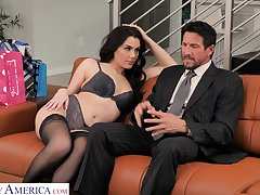 Scrumptious young wifey Valentina Nappi seduces elderly husband