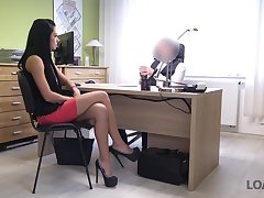 Inga's job interview goes very substantially cuz she is really good at sex