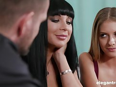 Spicy hot mistress Valentina Ricci having a affecting FFM threesome