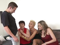 Reproachful group sexual congress party with cock hungry Yamra plus Stacy Love