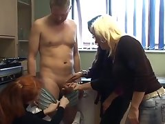 Amateur video of one gay blade getting his dick pleasured by Amira and Carol