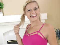 Cum forth mouth ending for cute Madison Hart after passionate making love