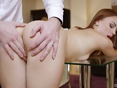 Quite a pleasure for this thin honey to pump such inches inside her