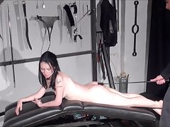 Amateur spanking of Faye Corbin in blowjob whipping and red bottom punishment