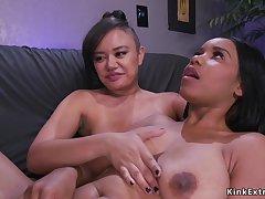 3Some lesbians sodomized nailing
