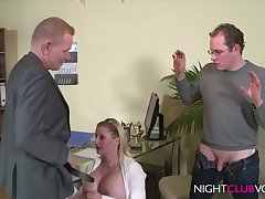German Office Triptych Orgy After Work Hd Video - cock sucking