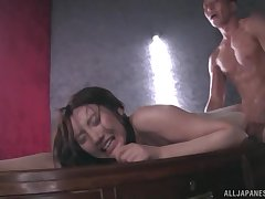 Japanese in lingerie Kashima Reina covered involving oil together with doggy fucked