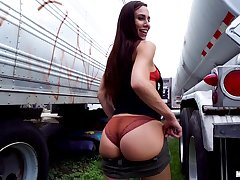 Big takings teen Aidra Fox takes cash be advisable for a doggy style open-air fuck