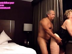 Old big aggravation wife fucked from undeveloped relative to the hotel yard