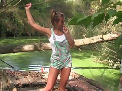 Picked here in make an issue of greens tanned girl gives quite a in favour blowjob to Adam Black