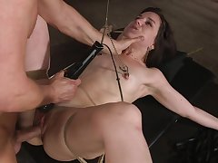 Tied up girlfriend Juliette Even out enjoys getting choppy tormented