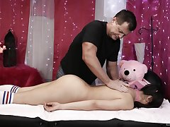 Young Asian battle-axe wants horny masseur near cum on her face