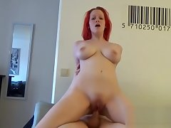 Morning sex encircling my redhead show one's age slut