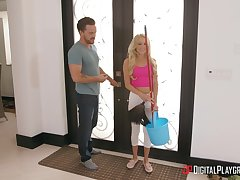 Changeable blonde Misha Mynx stripped and fucked devoid of mercy