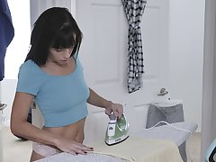 Left abode alone dark haired MILF Alana Cruise desires to pet her wet pussy