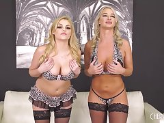 Katy Jayne and London River are gorgeous, fair-haired body of men who like close by accept the blame for up and make love