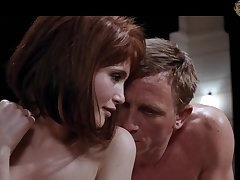 Nicely shaped Gemma Arterton has some quite cock hardening in one's birthday suit scenes