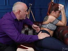 Naughty young tie the knot Renata Fox is fucked away from old tighten one's belt